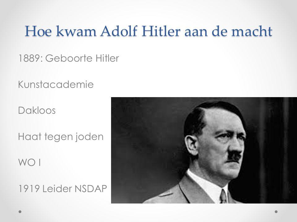 Hoe kwam Adolf Hitler aan de macht