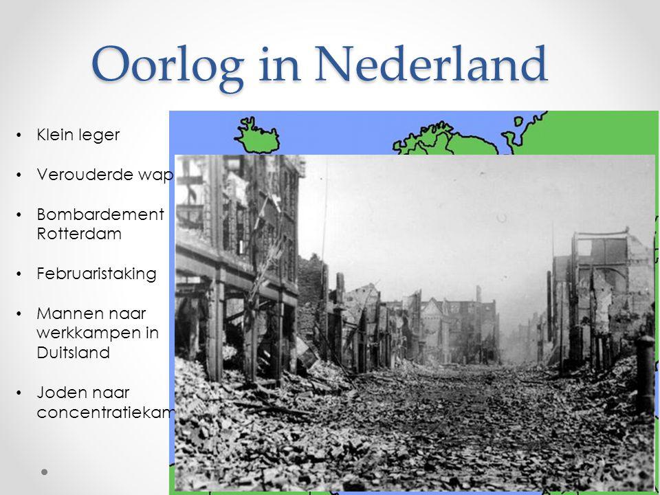 Oorlog in Nederland Klein leger Verouderde wapens