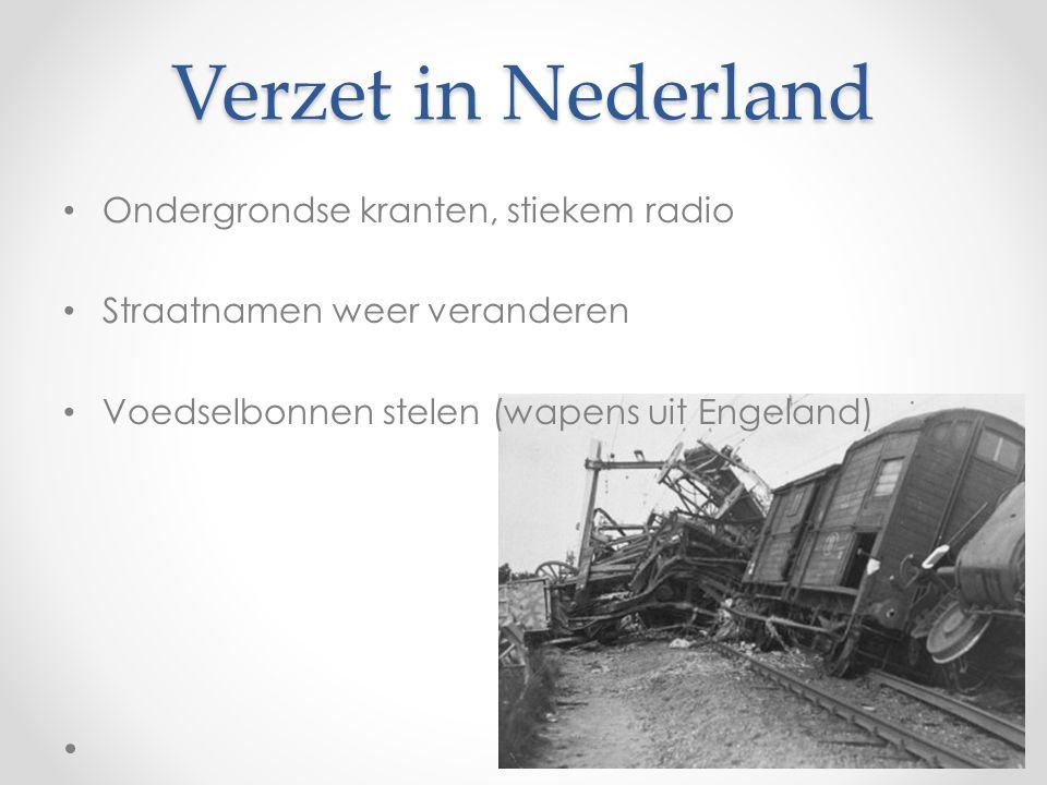 Verzet in Nederland Ondergrondse kranten, stiekem radio
