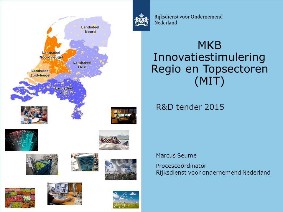 MKB Innovatiestimulering Regio en Topsectoren (MIT)