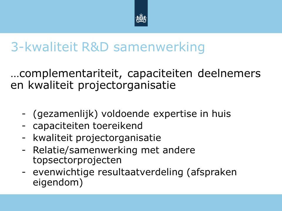 3-kwaliteit R&D samenwerking