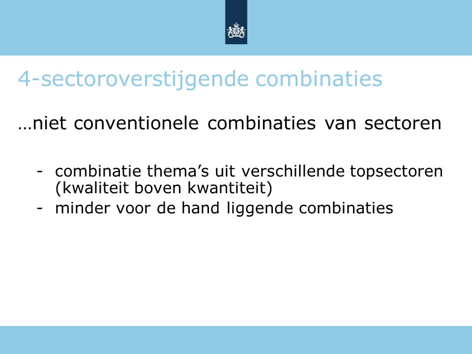 4-sectoroverstijgende combinaties