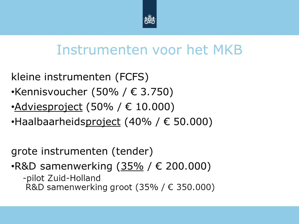 Instrumenten voor het MKB