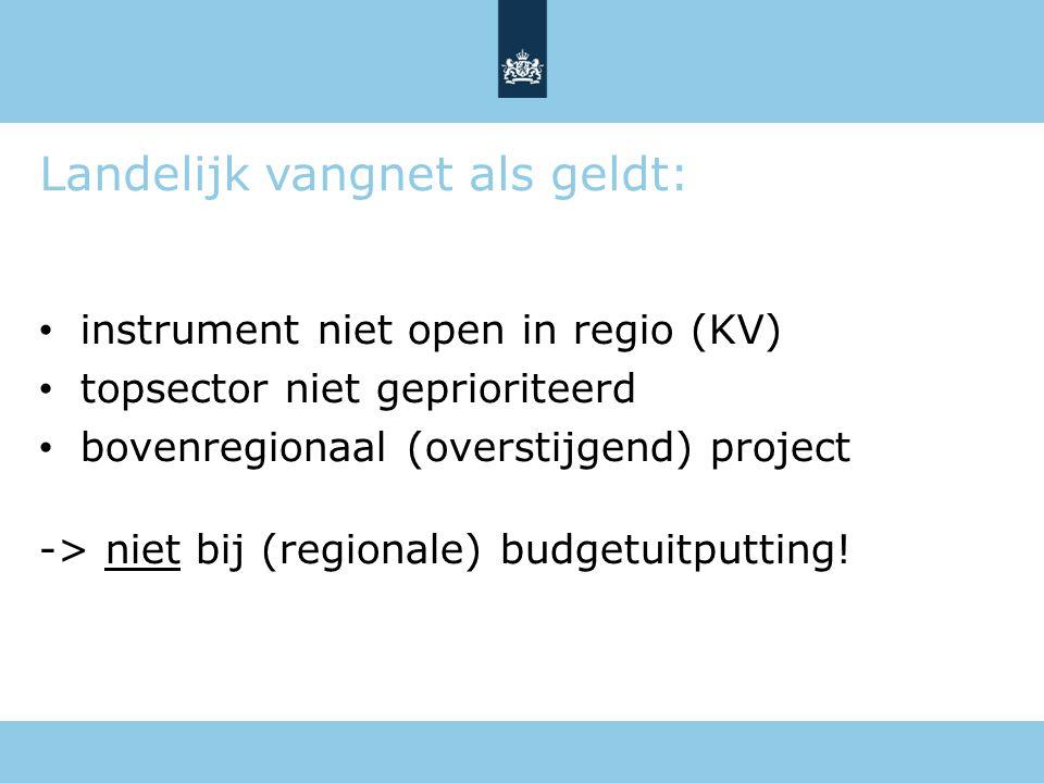 Landelijk vangnet als geldt:
