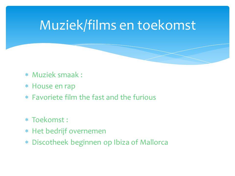 Muziek/films en toekomst