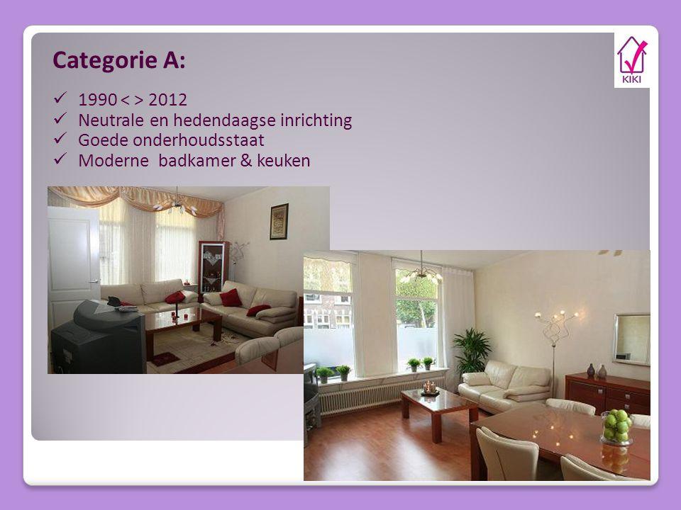 Categorie A: 1990 < > 2012 Neutrale en hedendaagse inrichting