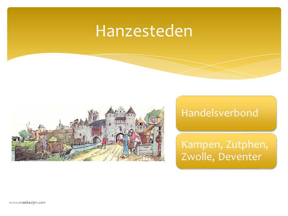 Hanzesteden Handelsverbond Kampen, Zutphen, Zwolle, Deventer