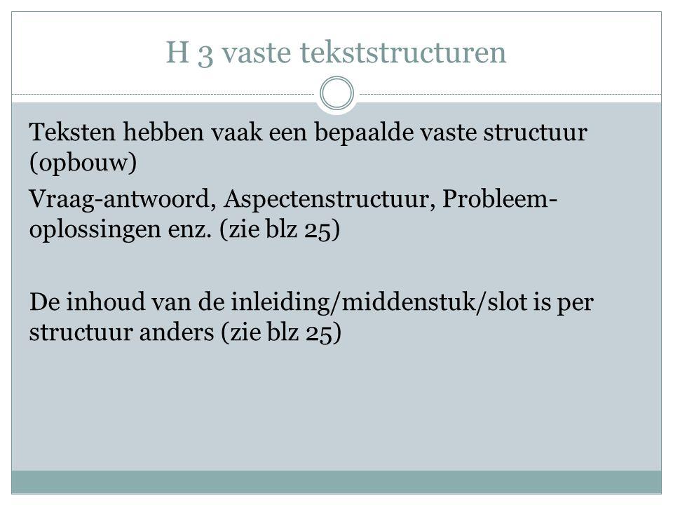 H 3 vaste tekststructuren