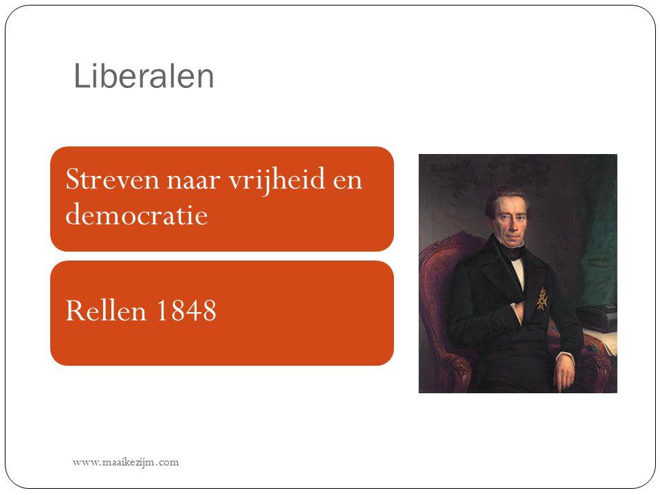 Liberalen Streven naar vrijheid en democratie Rellen 1848