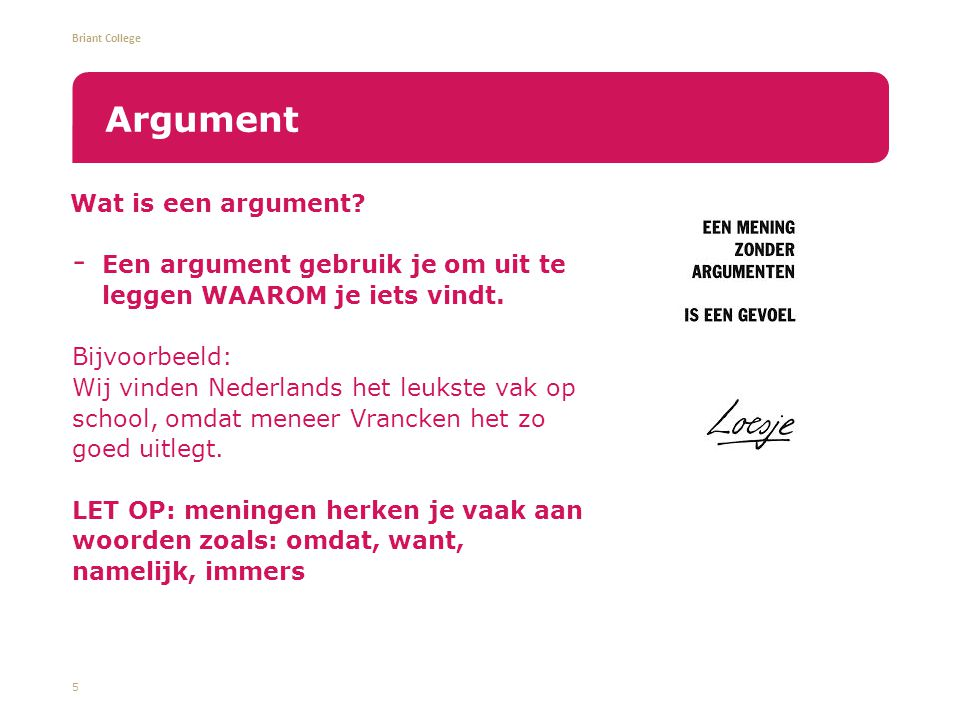 Argument Wat is een argument