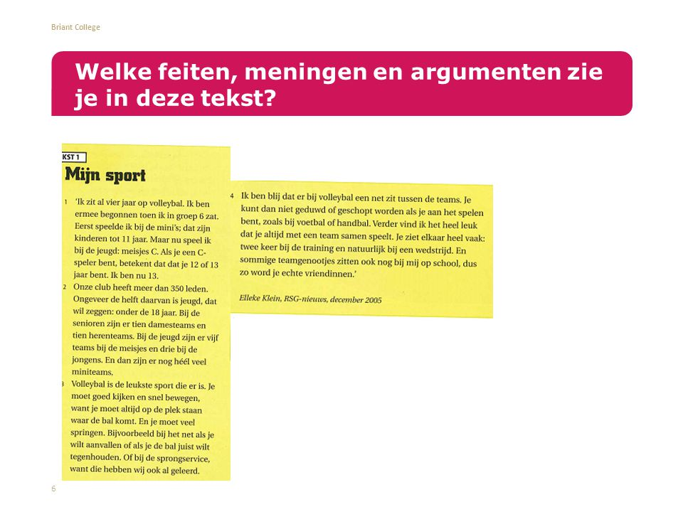 Welke feiten, meningen en argumenten zie je in deze tekst