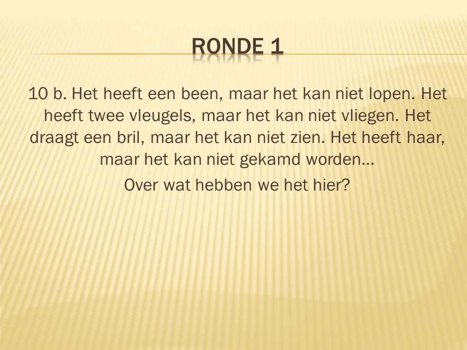 RONDE 1