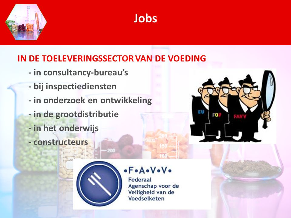 Jobs IN DE TOELEVERINGSSECTOR VAN DE VOEDING - in consultancy-bureau's