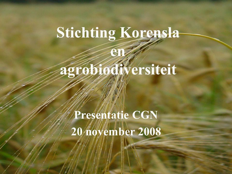 Stichting Korensla en agrobiodiversiteit