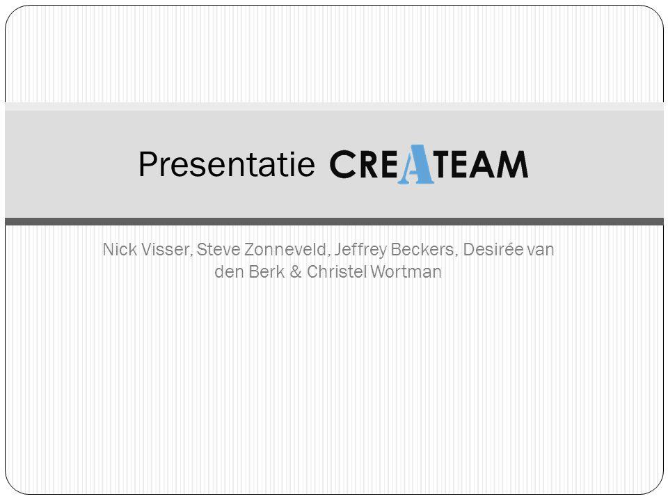 Presentatie Nick Visser, Steve Zonneveld, Jeffrey Beckers, Desirée van den Berk & Christel Wortman