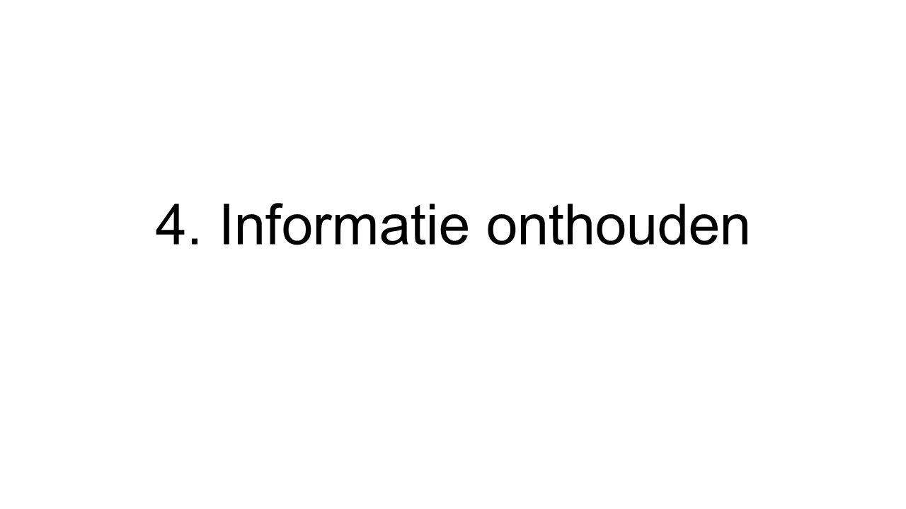 4. Informatie onthouden