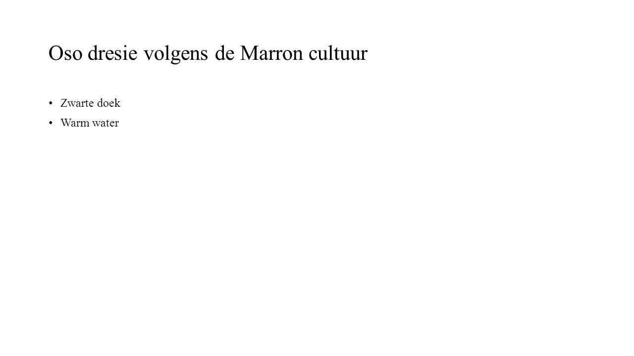 Oso dresie volgens de Marron cultuur