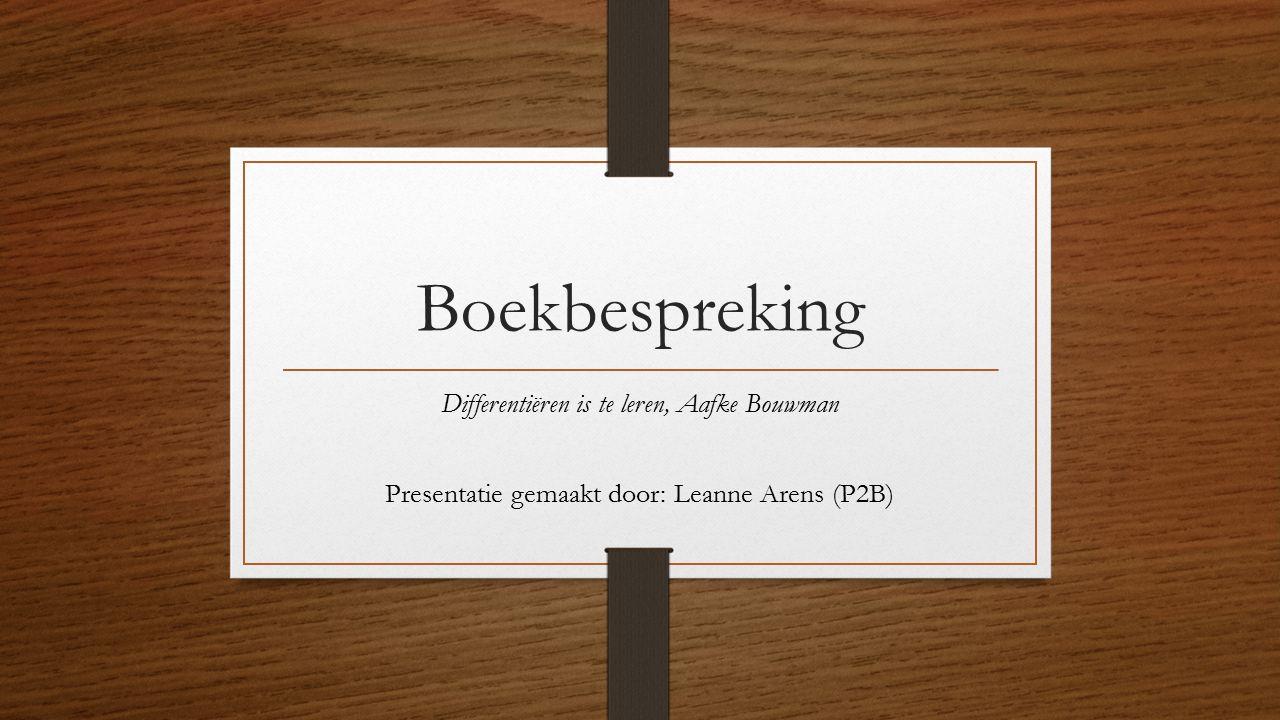 Boekbespreking Differentiëren is te leren, Aafke Bouwman