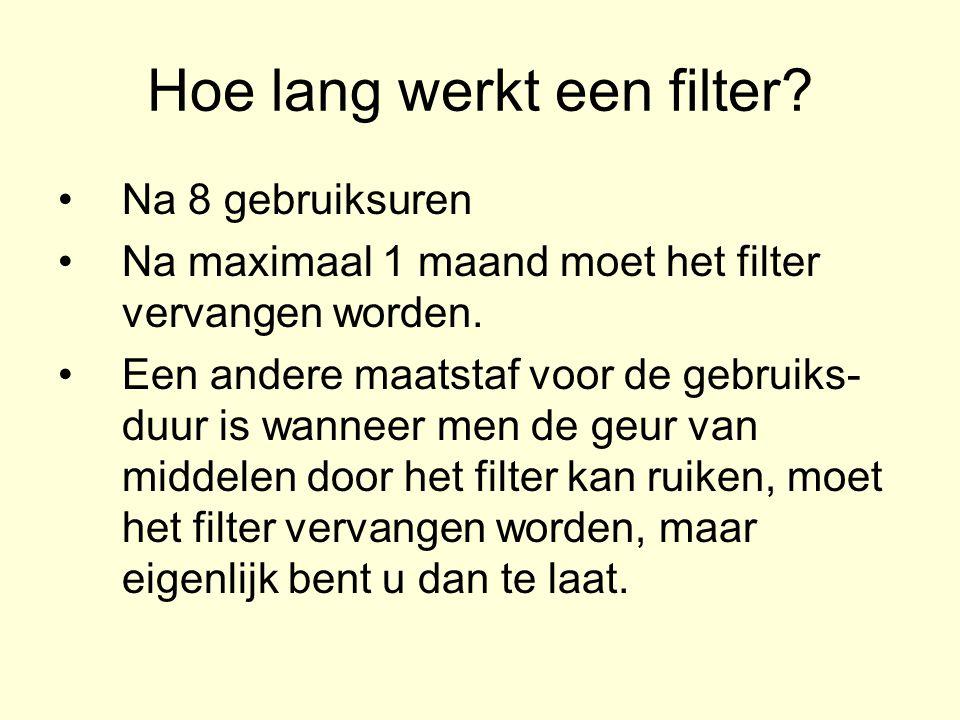 Hoe lang werkt een filter