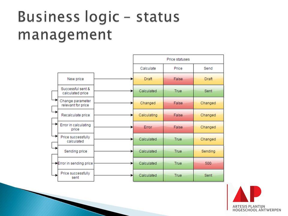Business logic – status management