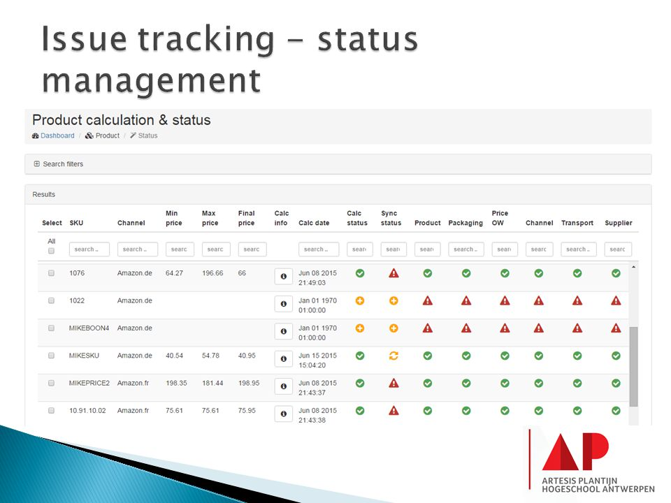 Issue tracking - status management