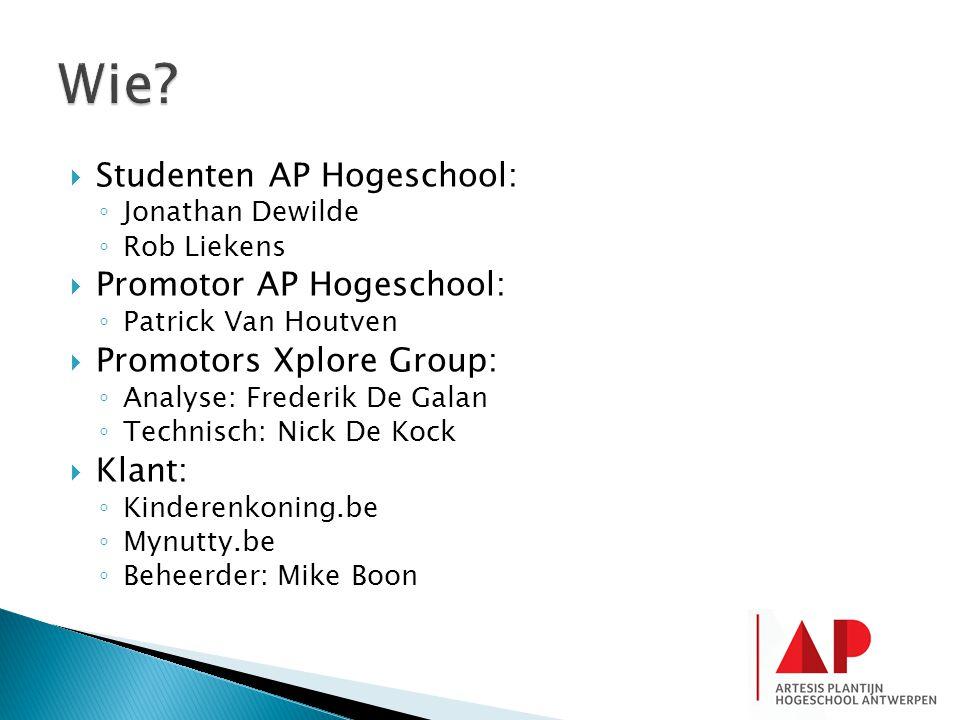 Wie Studenten AP Hogeschool: Promotor AP Hogeschool: