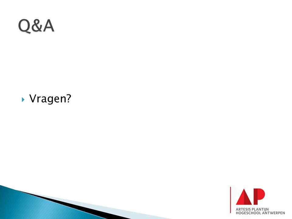 Q&A Vragen