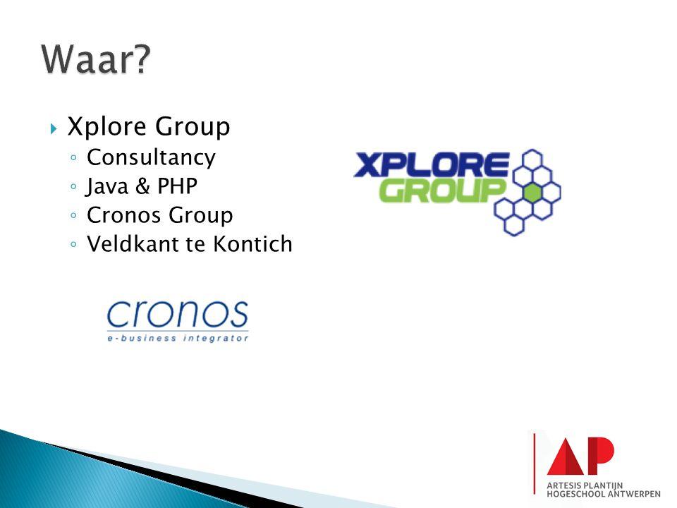 Waar Xplore Group Consultancy Java & PHP Cronos Group