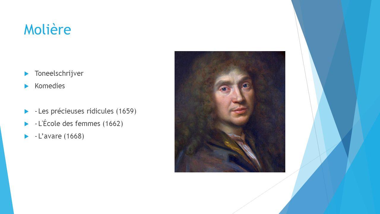Molière Toneelschrijver Komedies - Les précieuses ridicules (1659)