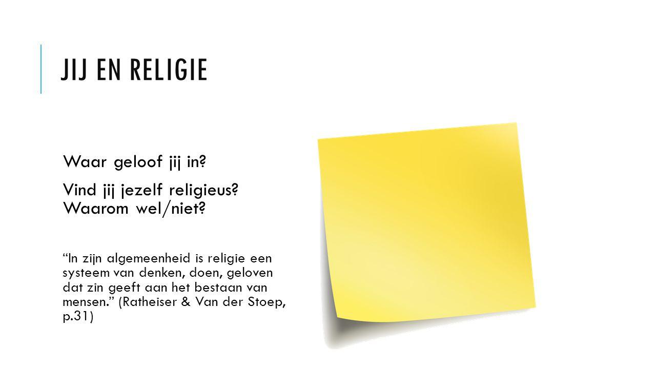 Jij en religie Waar geloof jij in