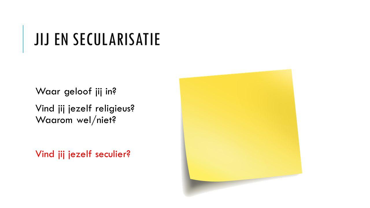 Jij en secularisatie Waar geloof jij in