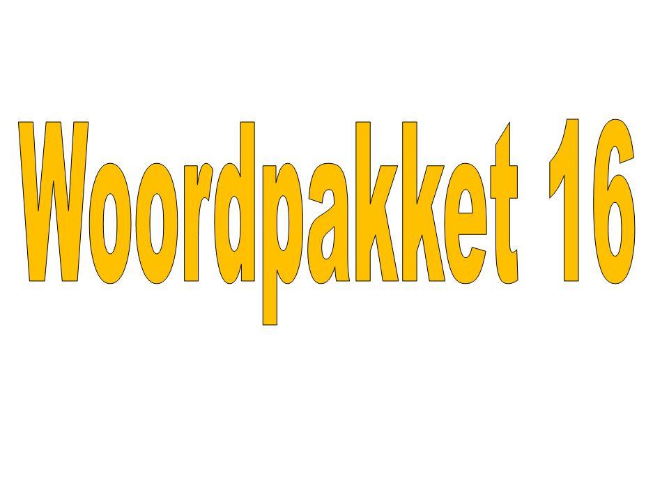 Woordpakket 16