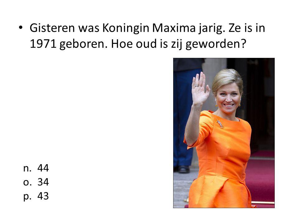 Gisteren was Koningin Maxima jarig. Ze is in 1971 geboren