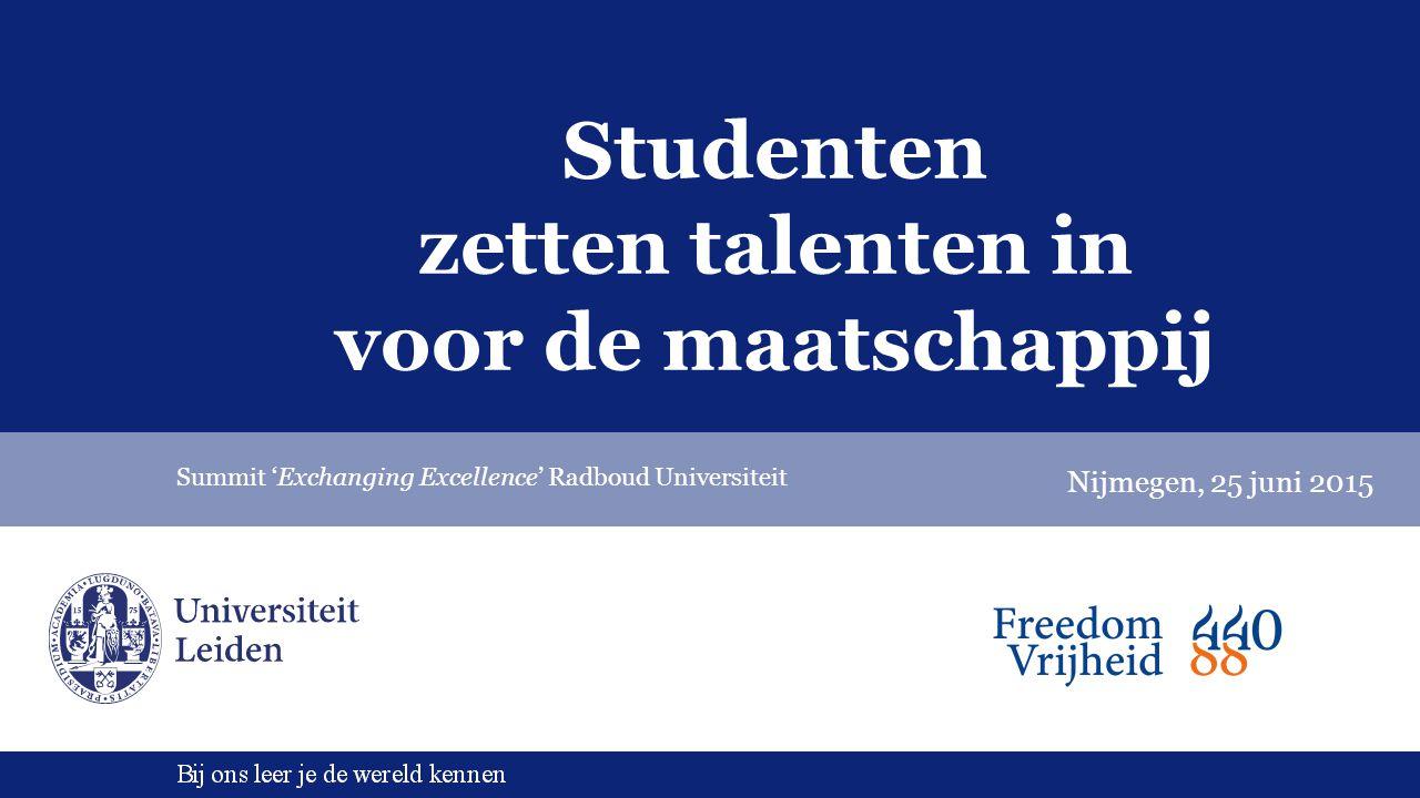 Studenten zetten talenten in voor de maatschappij