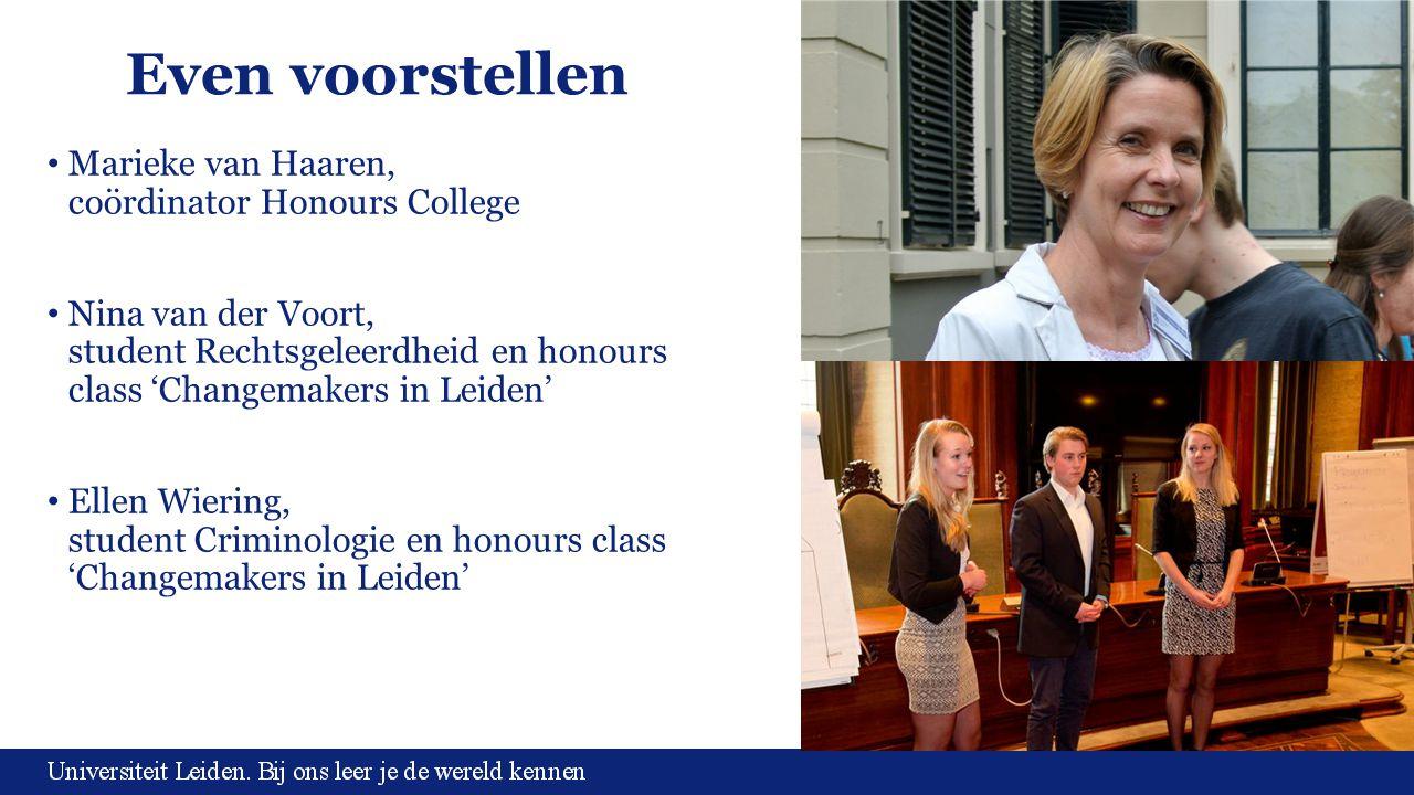 Even voorstellen Marieke van Haaren, coördinator Honours College