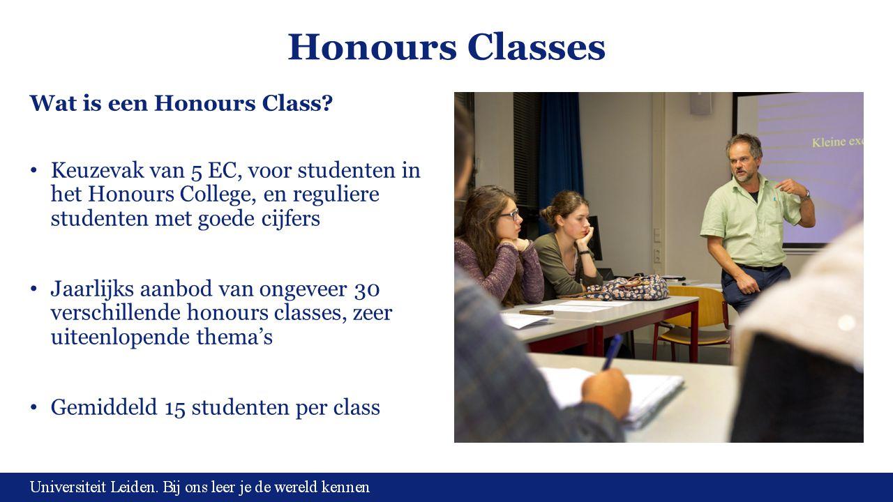 Honours Classes Wat is een Honours Class