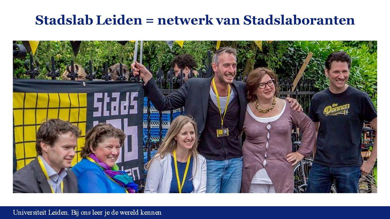 Stadslab Leiden = netwerk van Stadslaboranten