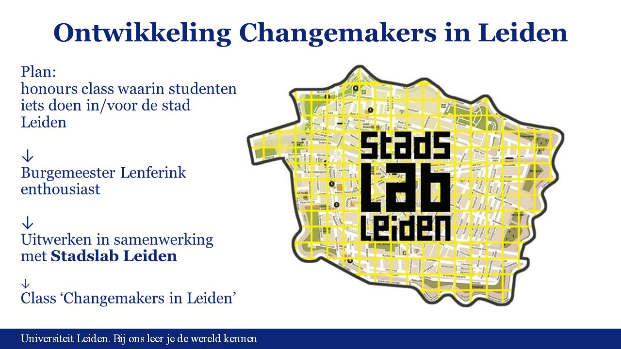 Ontwikkeling Changemakers in Leiden