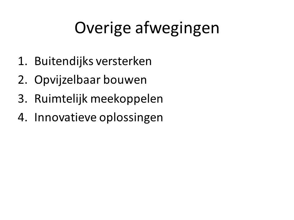 Overige afwegingen Buitendijks versterken Opvijzelbaar bouwen