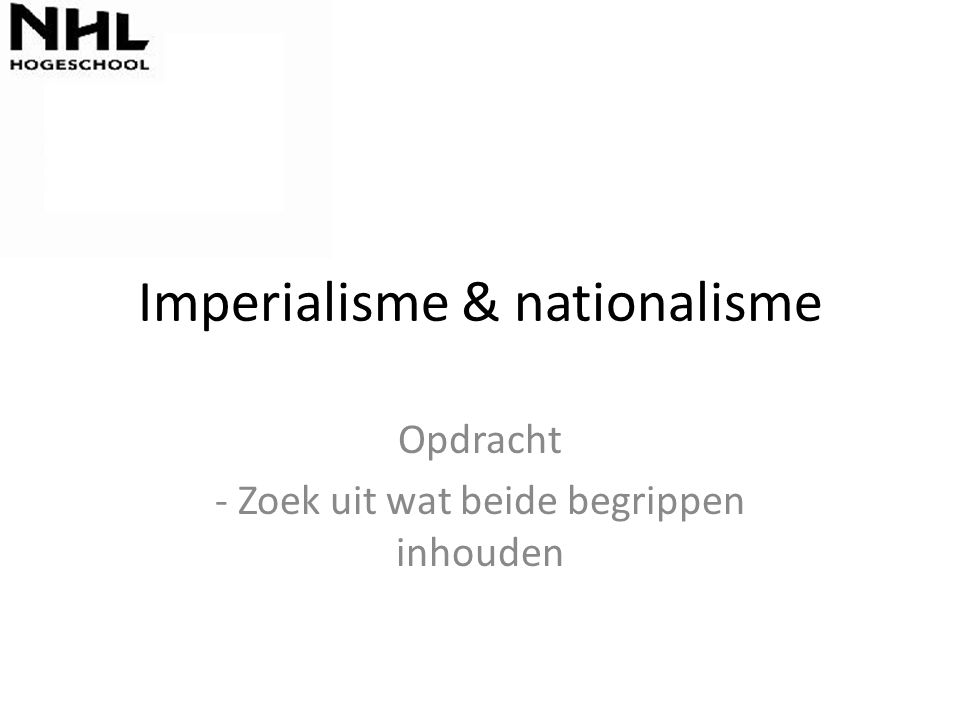 Imperialisme & nationalisme