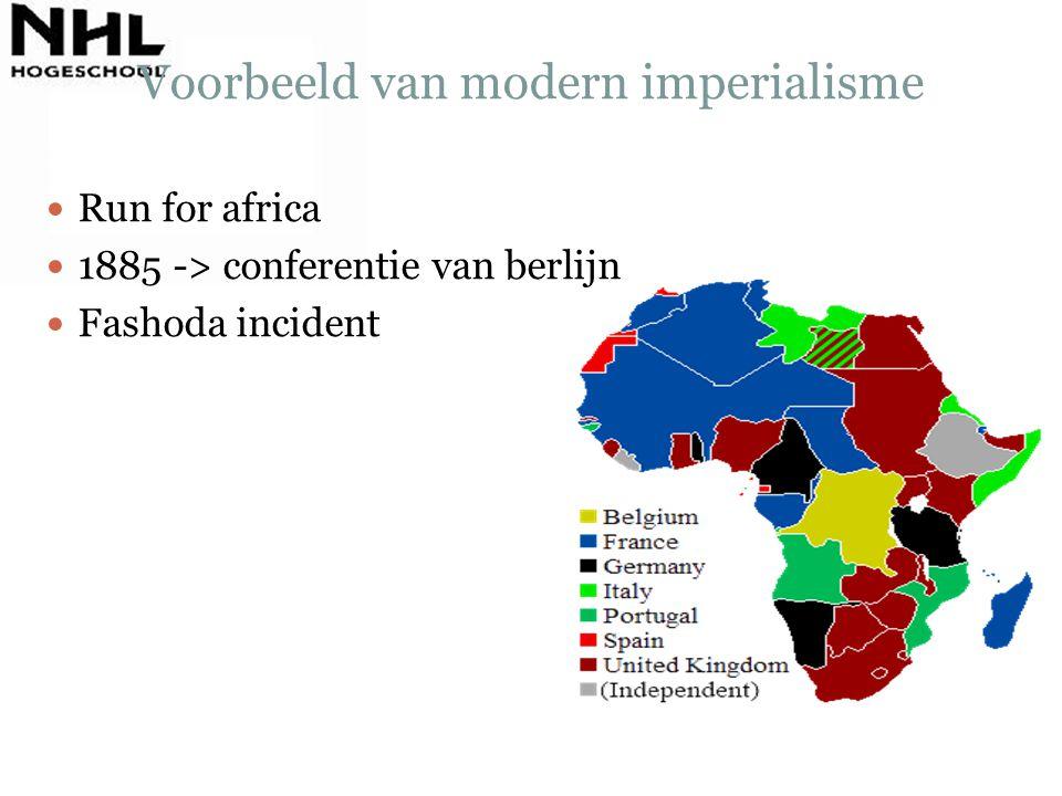 Voorbeeld van modern imperialisme