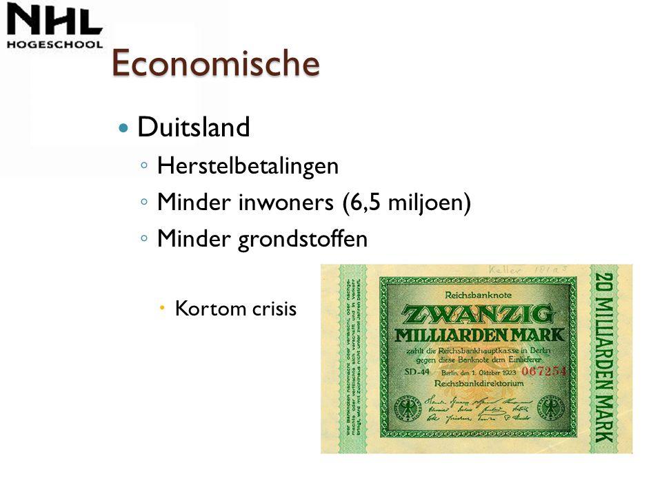 Economische Duitsland Herstelbetalingen Minder inwoners (6,5 miljoen)