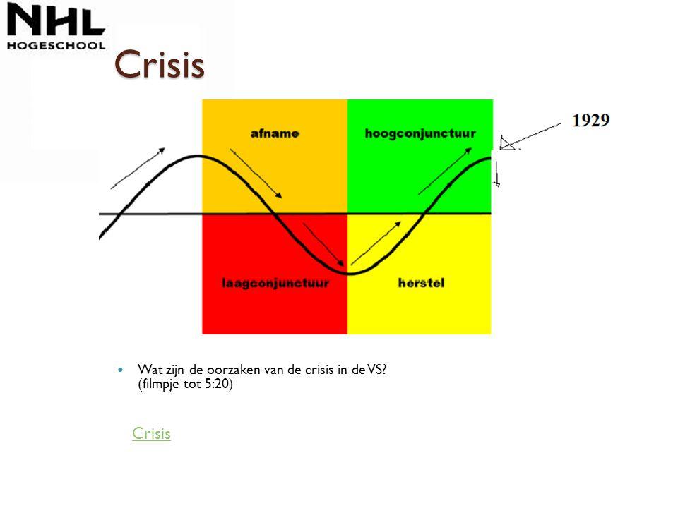 Crisis Wat zijn de oorzaken van de crisis in de VS (filmpje tot 5:20) Crisis