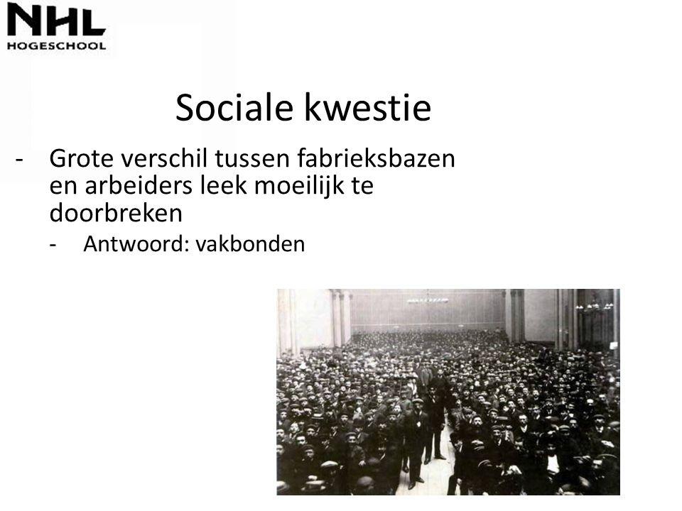Sociale kwestie Grote verschil tussen fabrieksbazen en arbeiders leek moeilijk te doorbreken.