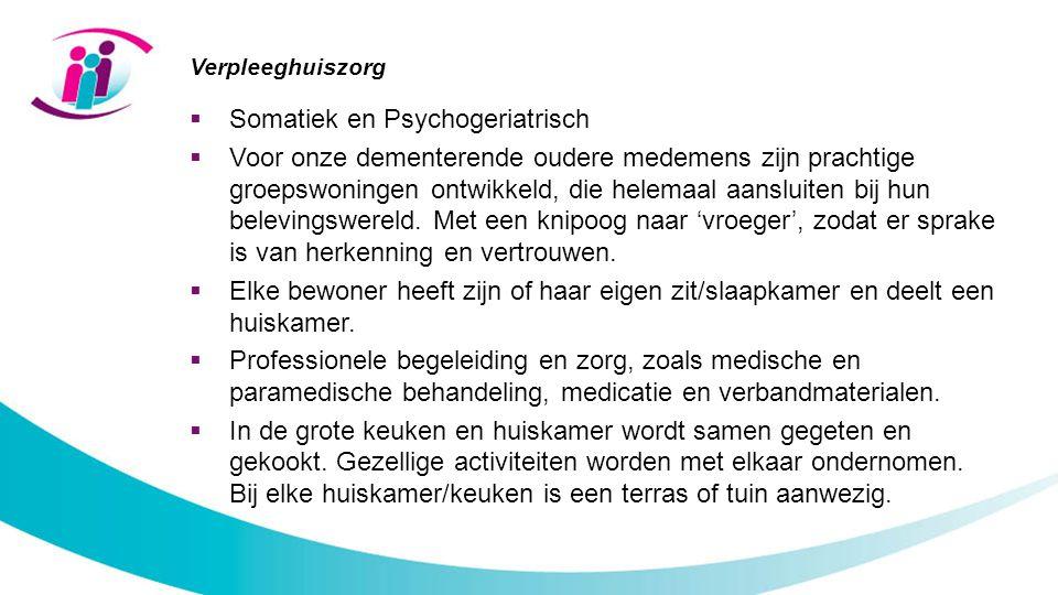 Somatiek en Psychogeriatrisch