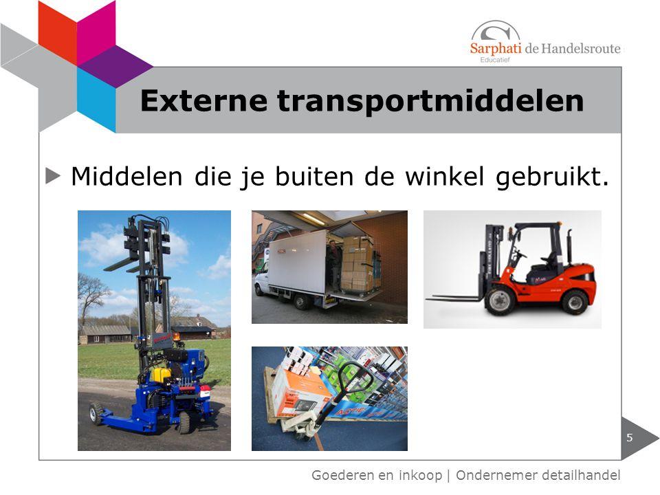 Externe transportmiddelen