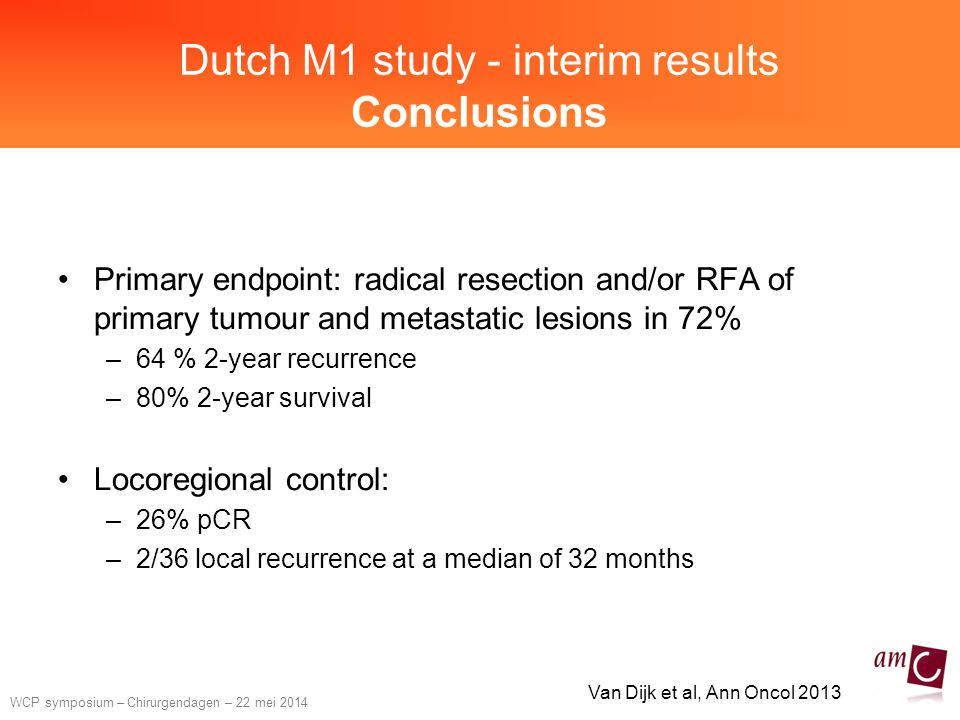 Dutch M1 study - interim results Conclusions