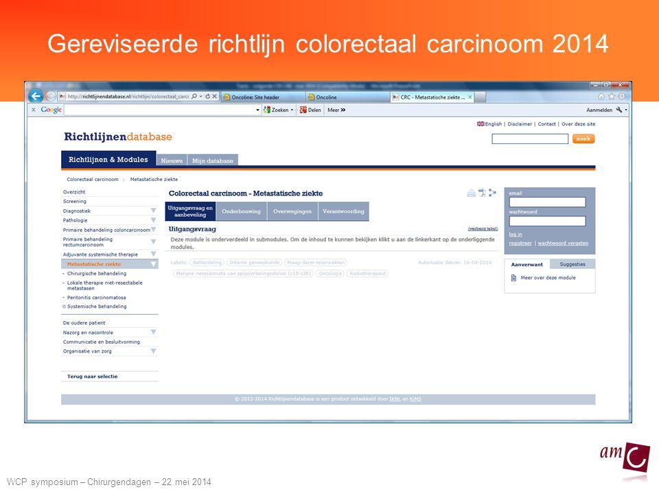 Gereviseerde richtlijn colorectaal carcinoom 2014