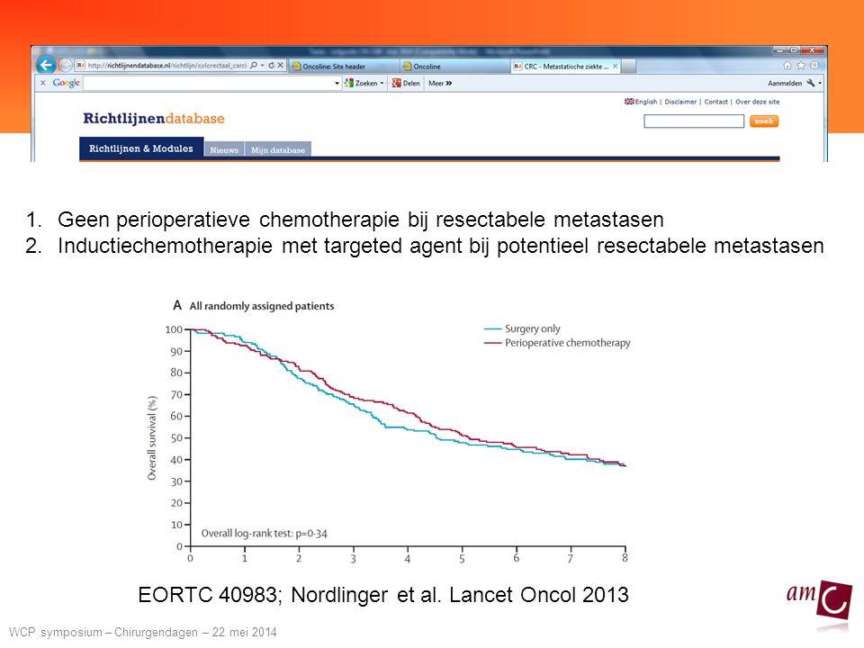 Geen perioperatieve chemotherapie bij resectabele metastasen