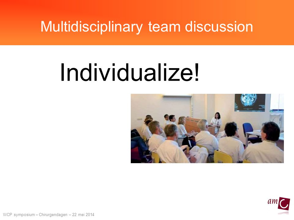 Multidisciplinary team discussion